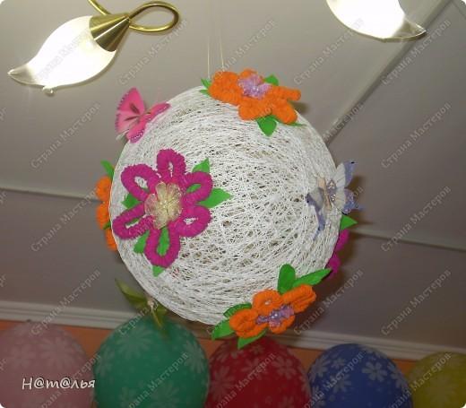 Одно из украшений нашего музыкального зала к 8 марта были вот такие шары. Все просто, но, как мне кажется, очень мило))) фото 3