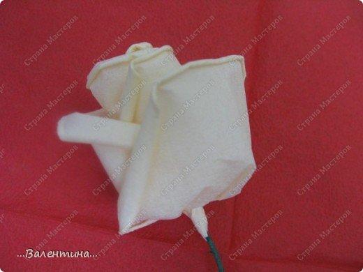 Мастер-класс Мастер-класс розы из бумажных салфеток Салфетки фото 19