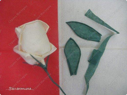 Мастер-класс Мастер-класс розы из бумажных салфеток Салфетки фото 24