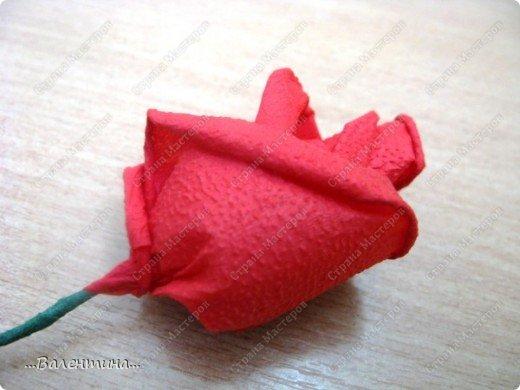 Мастер-класс Мастер-класс розы из бумажных салфеток Салфетки фото 20