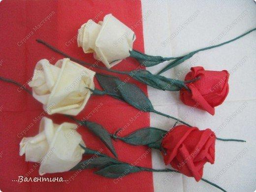 Мастер-класс Мастер-класс розы из бумажных салфеток Салфетки фото 28