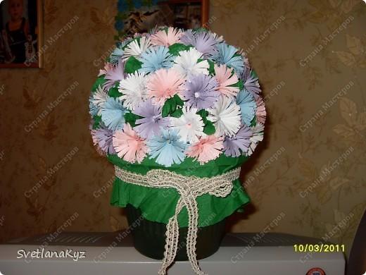 Давно хотела стелать такой цветочный шар. И вот что у меня получилось. фото 2