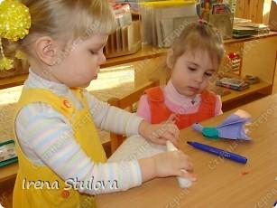 Насмотревшись http://stranamasterov.ru/node/160265 и попробовав сделать http://stranamasterov.ru/node/160827 птичек из салфеток по МК Татьяны Имполитовой, решила сделать их со своими малышами. :):):) фото 12