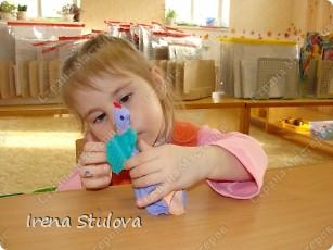 Насмотревшись http://stranamasterov.ru/node/160265 и попробовав сделать http://stranamasterov.ru/node/160827 птичек из салфеток по МК Татьяны Имполитовой, решила сделать их со своими малышами. :):):) фото 14