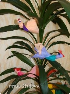 Насмотревшись http://stranamasterov.ru/node/160265 и попробовав сделать http://stranamasterov.ru/node/160827 птичек из салфеток по МК Татьяны Имполитовой, решила сделать их со своими малышами. :):):) фото 1