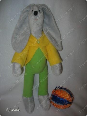 Пасхальный кролик с яйцом :) фото 6