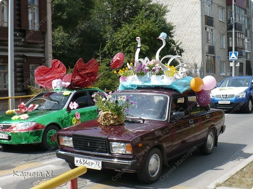 Случайно по дороге увидела пробег разных ретро авто и украшенных  автомобилей. фото 11