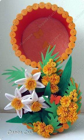 Сделала к 8 марта для мамы вот такую восьмерочку. Огромное спасибо  Ольга Ольшак за МК http://stranamasterov.ru/node/155924 фото 1