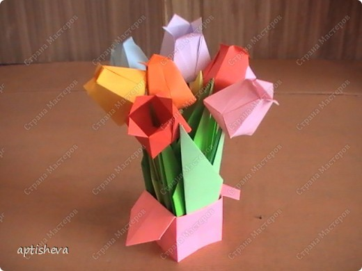 Подарки мамам своими руками оригами