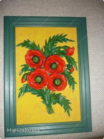 Мои любимые цветы-маки.Еще один букетик в процессе покраски. фото 1