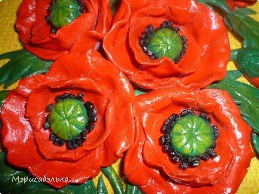 Мои любимые цветы-маки.Еще один букетик в процессе покраски. фото 2