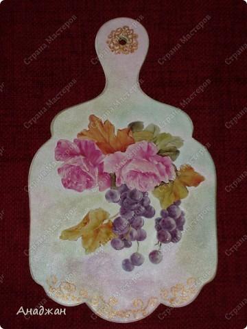"""""""Розовое настроение"""" Основа дерево. Имитация рисовой бумаги. Рисовая карта, акриловые краски, пастель. фото 4"""