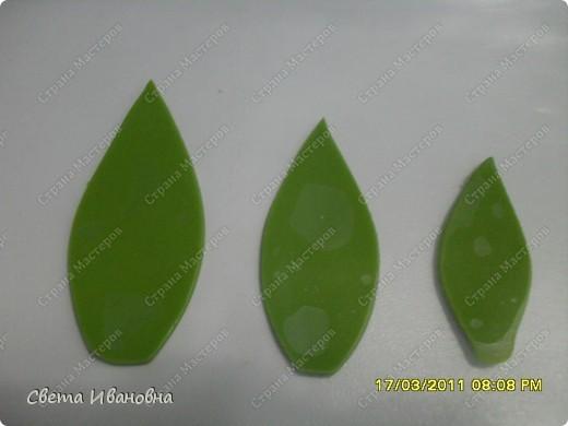Мастер-класс Лепка Эустома заключение МК листва Фарфор холодный фото 3.