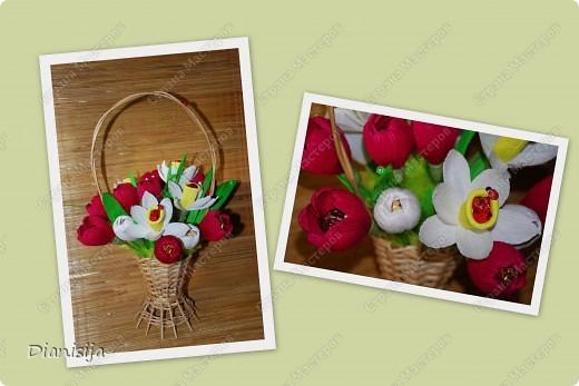 Корзинка тюльпанов и нарциссов :) Подарила свекрови :) фото 1