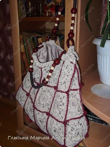 Вязанием увлекаюсь давно, а сумочку связала впервые фото 5