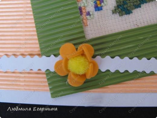 """Предлагаю вашему вниманию открытки из серии """"Самой обаятельной и привлекательной"""" для игры по скетчу http://stranamasterov.ru/node/159827. Используемые материалы: картон цветной, картон гофрированный, канва, нитки ирис, клей, бумага. фото 3"""