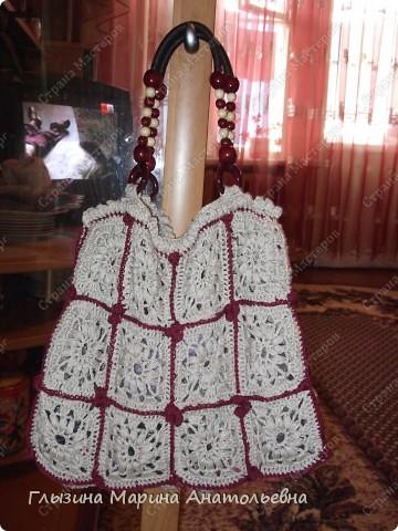 Вязанием увлекаюсь давно, а сумочку связала впервые фото 1