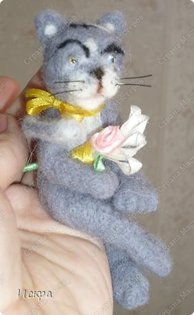 это моё второе произведение по валянию из шерсти, первым был мишка, фотографии к сожалению не сохранились. фото 1
