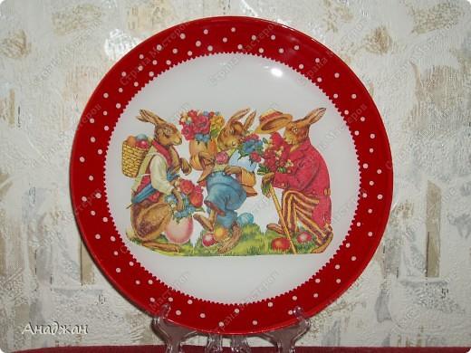 Все тарелочки выполнены обратным декупажем. Салфетки, акриловые краски, акриловый лак фото 2