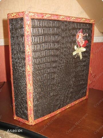старую огромную папку (валялась лет 5) оклеила зам.кожи фото 2
