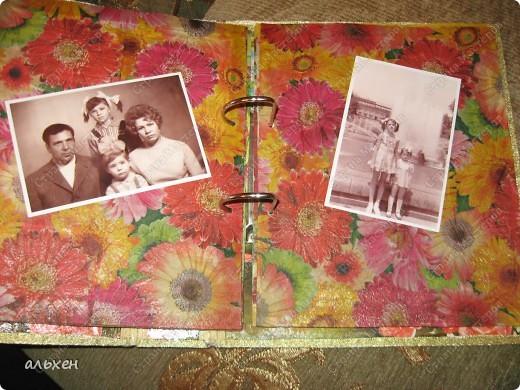 старую огромную папку (валялась лет 5) оклеила зам.кожи фото 8