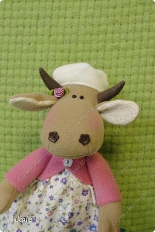 эта симпатичная коровка сшита по измененной выкройке   из PRetty  Toys  - игрушка так и называется - коровка Вакита фото 16