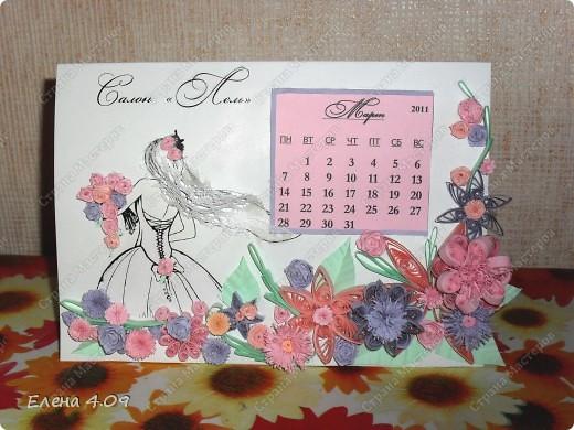 """Мама работает в свадебном салоне, и после того как увидела работу  Pastila """"Невеста"""" (http://stranamasterov.ru/node/104009?c=favorite ), загорелась идеей сделать что-то подобное ей на работу. Решила добавить календарик. фото 1"""