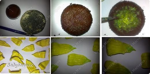 Подсолнух из солёного теста. В СМ много замечательных подсолнушков, и МК по ним есть, а я хочу показать свой. Если кому-то пригодится, буду рада. фото 8