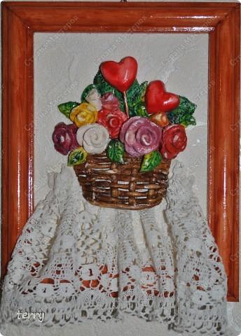 Лепилось в подарок на Валентина, но осталось дома (украшением кухни) фото 1