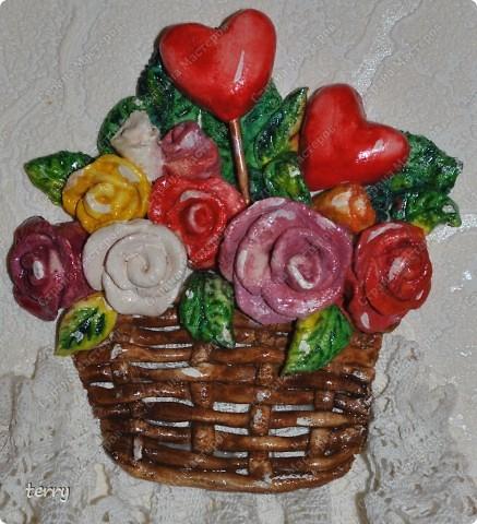 Лепилось в подарок на Валентина, но осталось дома (украшением кухни) фото 2