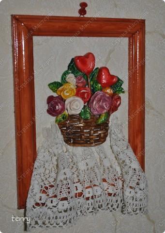 Лепилось в подарок на Валентина, но осталось дома (украшением кухни) фото 3