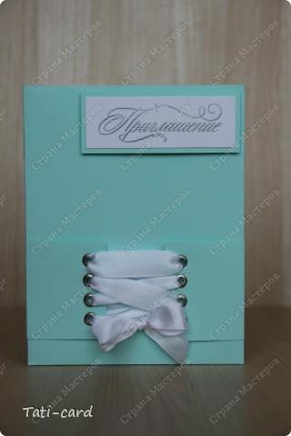 Свадебное приглашение в стиле Тиффани. фото 1