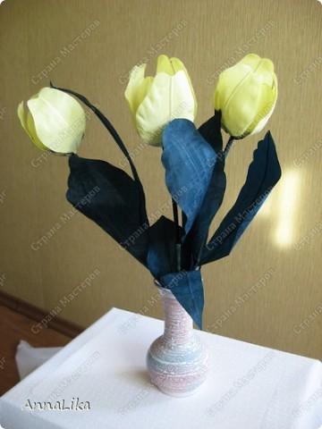 """Весенние цветы (тюльпаны).  доброй ночи, страна!это, конечно, не первая моя работа, но как-то все """"партизанила"""" на  сайте, стесняясь выкладывать свои работы. ну вот, теперь,наконец, осмелилась. надеюсь этот букет тюльпанов подарит вам хорошее настроение!!! :-)))) фото 1"""
