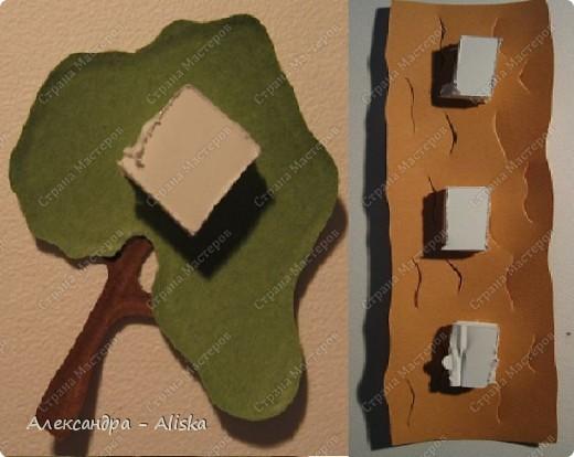 Продолжаем нашу работу. Приступаем к сборке, сначала отдельных элементов: домика, дерева, птицы, а потом и самой картины.  фото 13