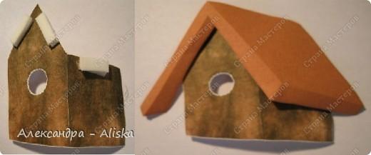 Продолжаем нашу работу. Приступаем к сборке, сначала отдельных элементов: домика, дерева, птицы, а потом и самой картины.  фото 2