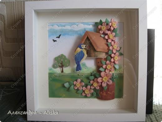 Продолжаем нашу работу. Приступаем к сборке, сначала отдельных элементов: домика, дерева, птицы, а потом и самой картины.  фото 1