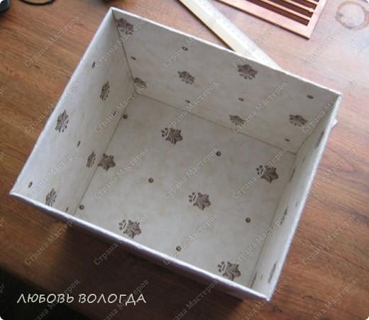 Вот такая коробочка дожидается отделки  А теперь все с начала фото 12