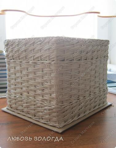 Мастер-класс Плетение Коробка к выступающим дном Трубочки бумажные фото 1