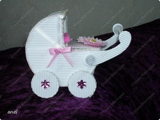 Коробочка-коляска для новорожденной. фото 1