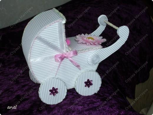 Коробочка-коляска для новорожденной. фото 2