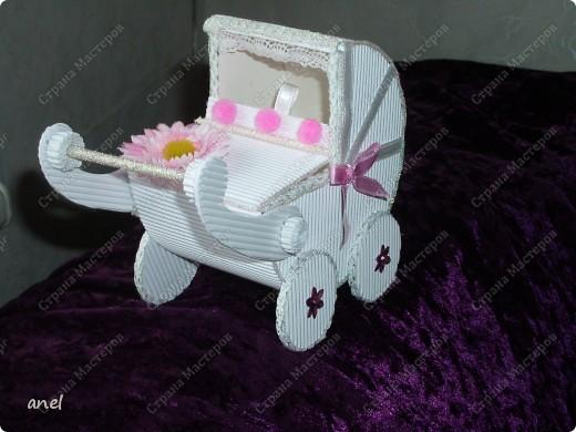 Коробочка-коляска для новорожденной. фото 3