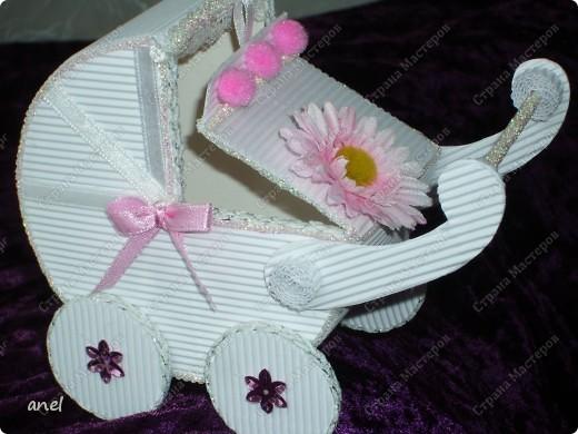 Коробочка-коляска для новорожденной. фото 4