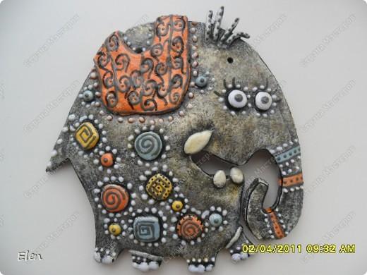 Очень давно была влюблена в слоника,которого слепила Inna-mina,очень благодарна ее за идейку,надеюсь не опозорилась,этот слоник из теста пока не оформлен,не знаю приклеить его на эту рамку,или перекрасить,то есть пока не доделка фото 4