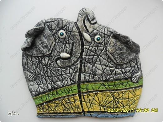 Очень давно была влюблена в слоника,которого слепила Inna-mina,очень благодарна ее за идейку,надеюсь не опозорилась,этот слоник из теста пока не оформлен,не знаю приклеить его на эту рамку,или перекрасить,то есть пока не доделка фото 7
