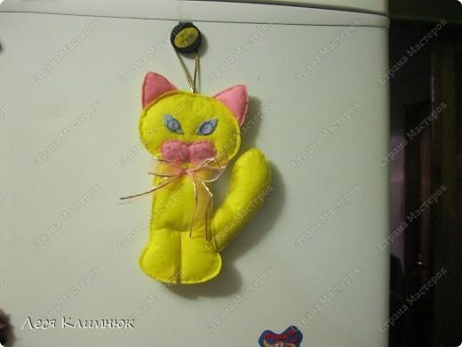 Кот просто прикольный) украшения на холодильник фото 3