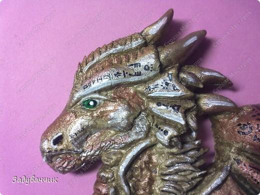 Дракон из солёного теста.  фото 2
