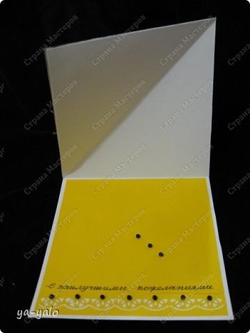 """Дорогие мастерицы и мастера! Вот ещё одна интересная и эффектная форма открытки. Когда я сделала открытку-стойку """"УГОЛОК"""", у меня возникла мысль приклеить на этот уголок-треугольник квадрат, для увеличения площади, которую можно украсить. Но вот вчера вечером наткнуласьь именно на такую открытку в блоге у ЮЛЕНЫ http://www.liveinternet.ru/users/urlena/post155120629/ Там есть ссылка на МК http://stempeleinmaleins.blogspot.com/2011/03/twisted-easel-karte.html фото 5"""