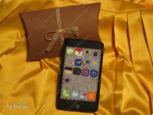 Мода на iPhone докатилась и до рукоделия! Вот какой чехол для телефона у меня получился!  фото 1