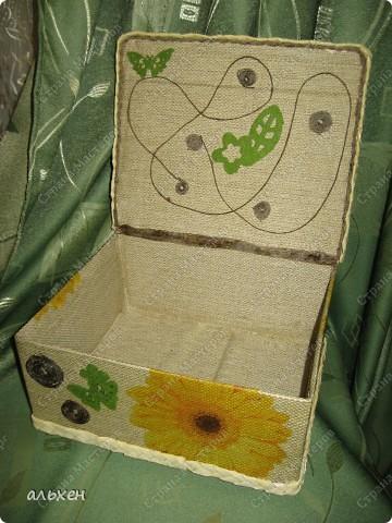 Коробочка нужна была стационарная.... что бы в неё поставить пузырьки с клеем, красками.... и т.д..... фото 7