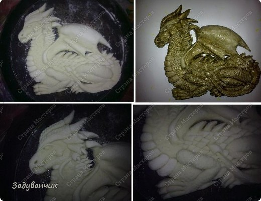 Дракон из солёного теста.  фото 9